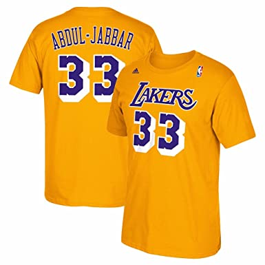 1e186e21a Amazon.com  Los Angeles Lakers Kareem Abdul Jabbar Throwback Adidas ...