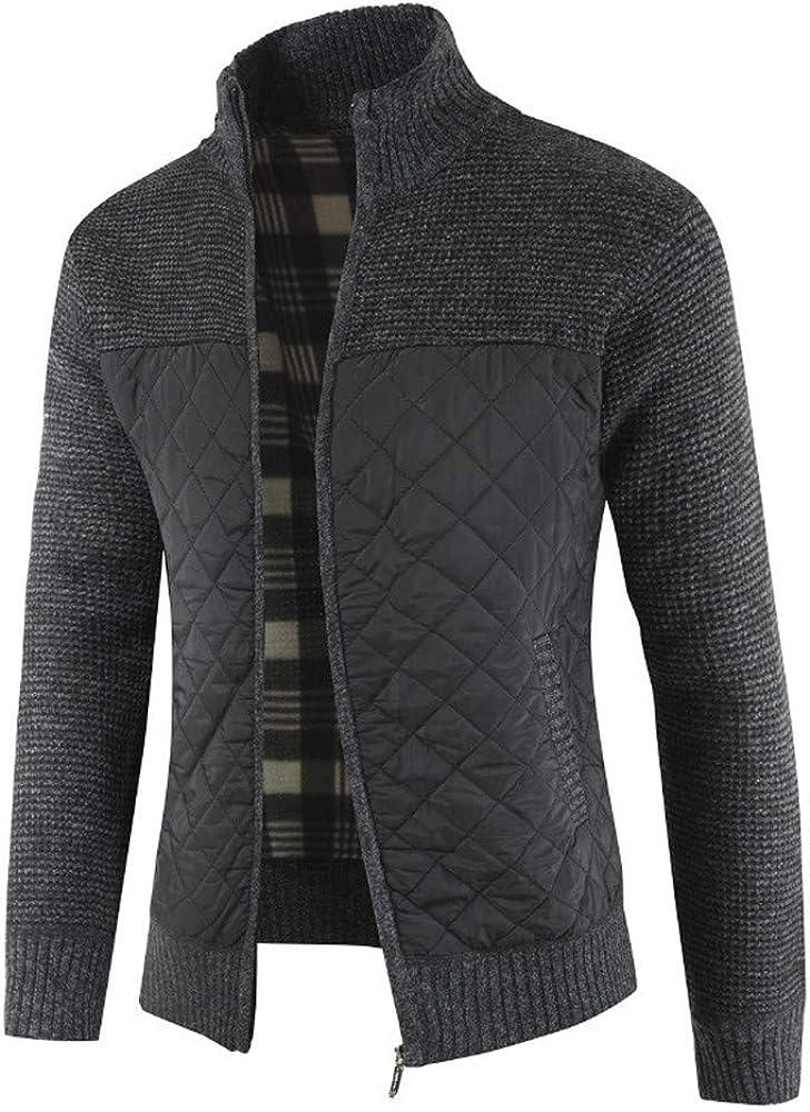 ZHJA 2019 Otoño E Invierno New Mens Plus Velvet Sweater De Punto ...