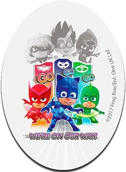 PJ Masks Héroes en pijamas We´re on our way 2 Disney - Parches termoadhesivos bordados aplique para ropa, tamaño: 11 x 8 cm