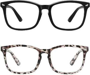 Black/& Clear Frame Women Men Kids Blue Light Blocking Glasses,Computer Glasses Gaming,Blue Light Glasses Cut UV400 Blue Ray Glasses with Clear Lens Anti Eyestrain,A Must for Screen Time,Sleep Better