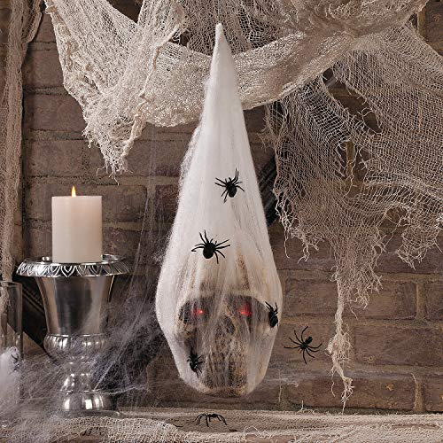 Fun Express - Led Skull In Cocoon for Halloween - Home Decor - Decorative Accessories - Home Accents - Halloween - 1 Piece]()