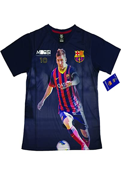 065feb271 Amazon.com  Messi Photo Jersey (Youth Large ( 10-13 years ))  Clothing