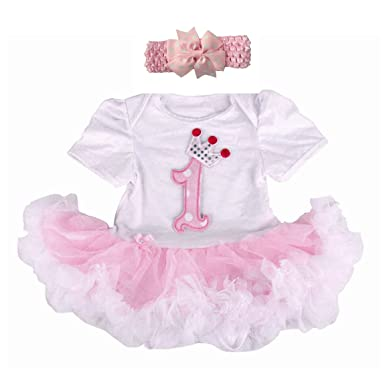 YOUTUMALL Baby Girls 1st Birthday Tutu Skirt Outfit Dress Clothing L Light Pink