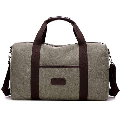 cdbf5eb685e5 HWX Mens Vintage Casual Canvas Tote Messenger Bag Leather Canvas Travel  Crossbody Satchel Shoulder School Bag