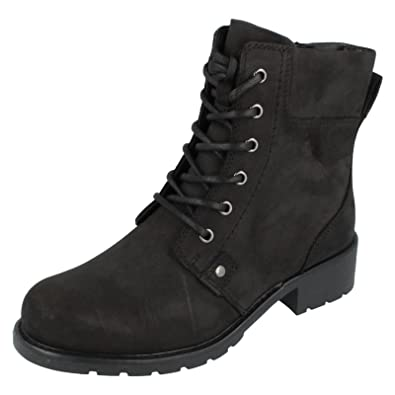 fbb8cb90ade8fb Clarks Orinoco Spice - Black Warmlined Leather Womens Boots 7 UK E   Amazon.co.uk  Shoes   Bags