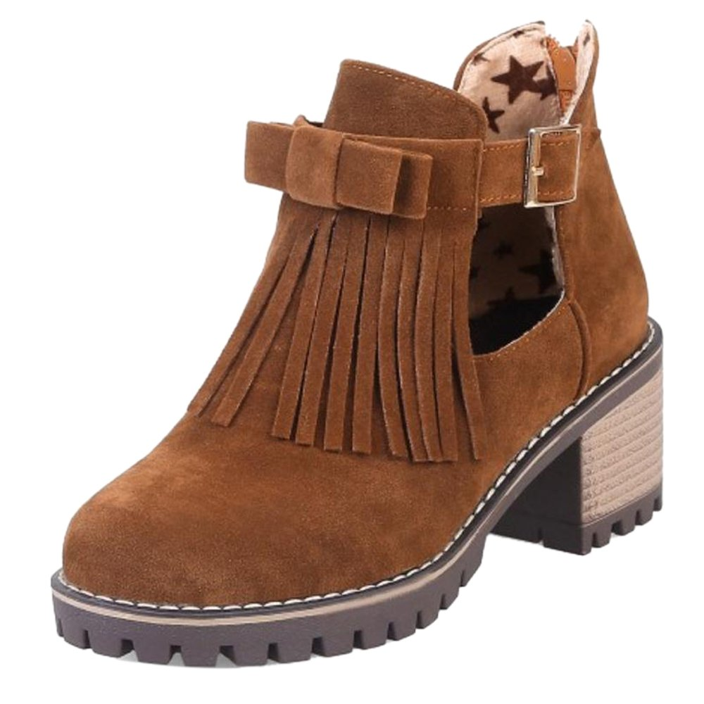 COOLCEPT Damen Chunky Niedrige Sommerschuhe Stiefel Black Size 34 Asian RNg6xU