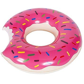 WENTS Donut Anillo de natación Inflable Flotador Gigante Buñuelo ...