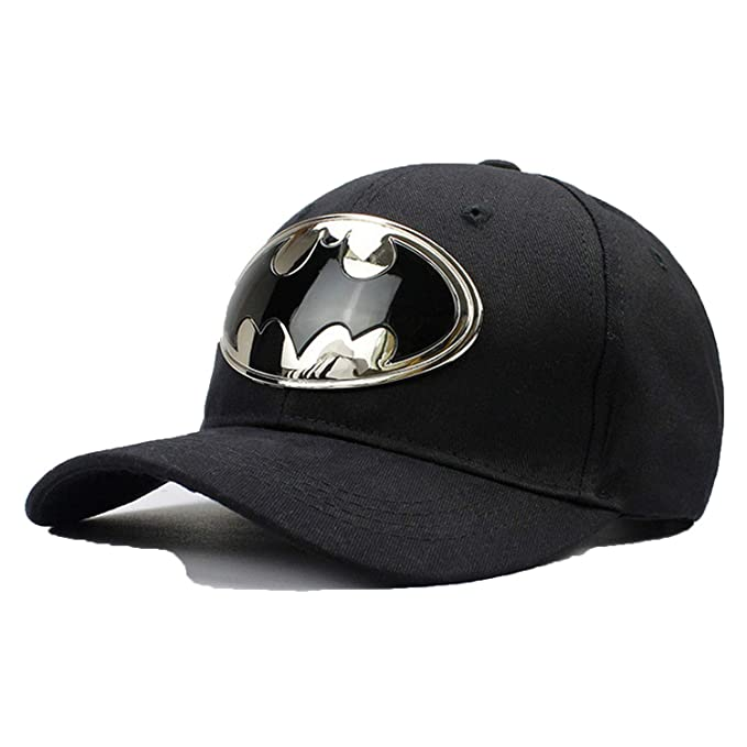 755da551e Amazon.com: Sivane Cotton Acrylic Metal Batman Baseball Cap Hip-hop ...