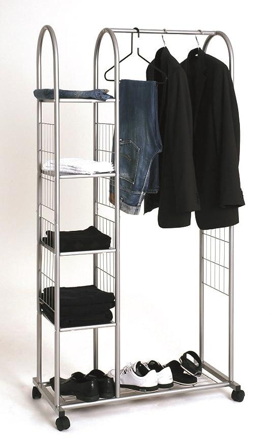 Roll perchero o - Perchero de pie en aluminio con 4 estantes ...