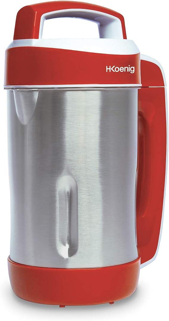 H.Koenig Sopera Eléctrica y Licuadora, Máquina para Hacer Sopas, Batidos, o Compotas, 1.1 litros, 850 W, 4 Programas, Acero Inoxidable, Rojo MXC18, plástico: Amazon.es: Hogar