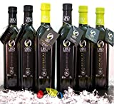 6 glass bottles 17-Ounce (3 picual + 3 arbequina) - Oro Bailén Family Reserve - Extra virgin olive oil By Oliva Oliva Internet SL