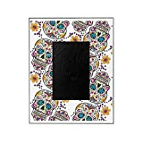 CafePress - Day Of The Dead Sugar Skull, Hallowe - Decorative 8x10 Picture Frame