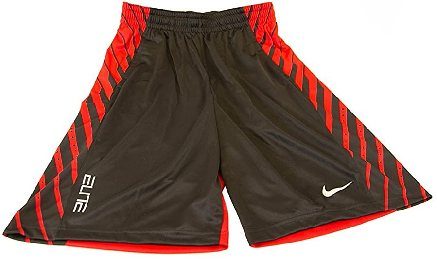 Nike Mens Elite Power Up Dri Fit Basketball Training Shorts Small Black/Red