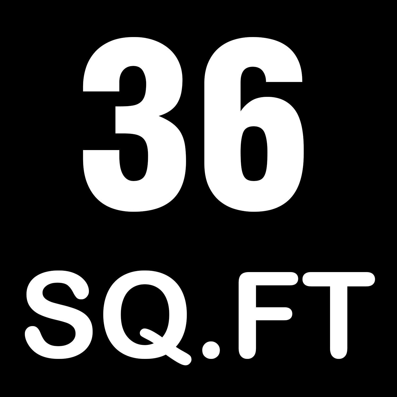 Yes4All Interlocking Exercise Foam Mats with Border - Interlocking Floor Mats for Gym Equipment - Eva Interlocking Floor Tiles (Black)