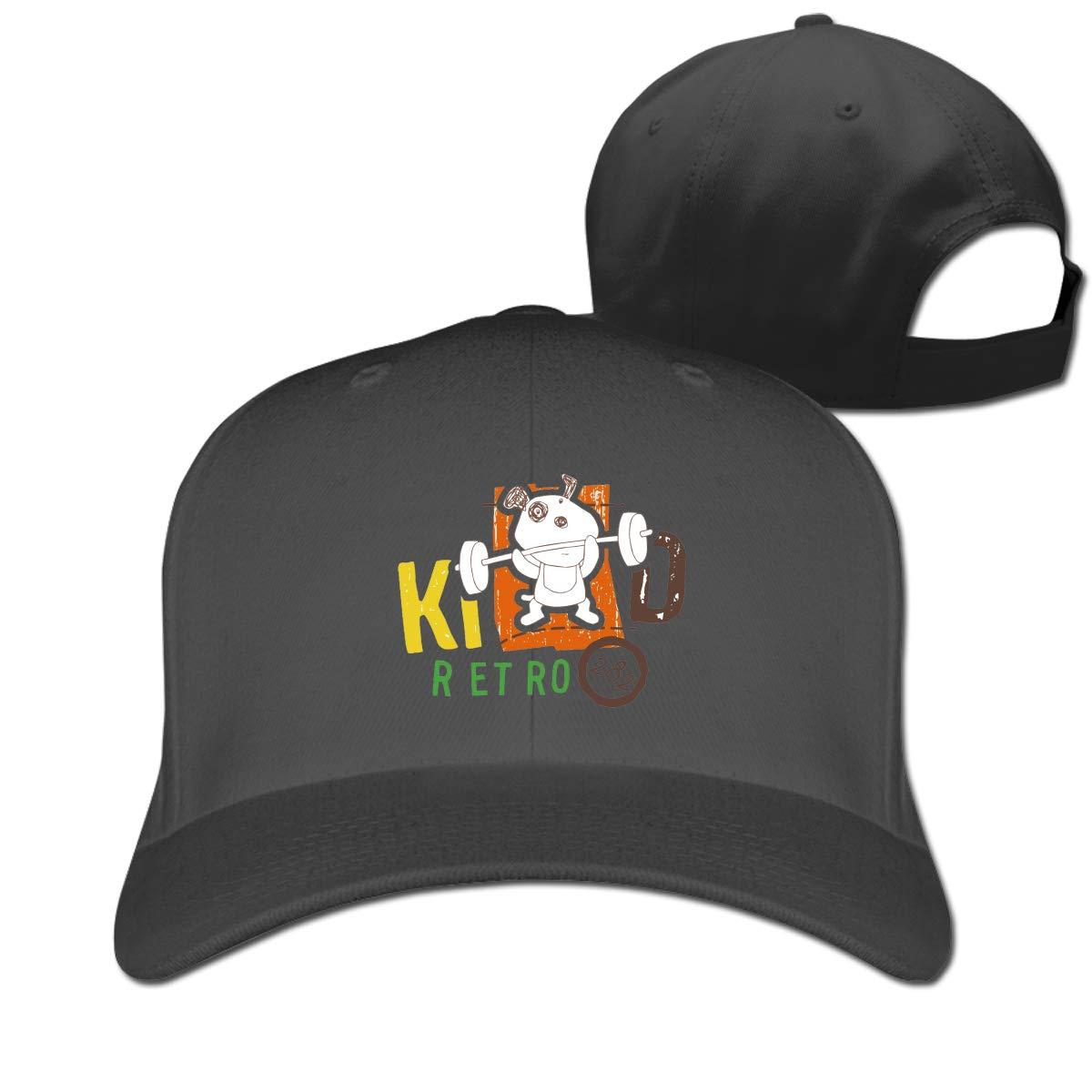 R ET RO Fashion Adjustable Cotton Baseball Caps Trucker Driver Hat Outdoor Cap Black