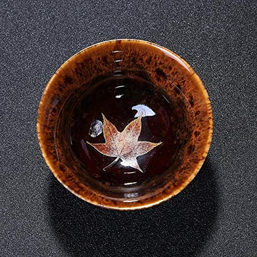 Fiesta Ceramic Cups Tea Sets New Products Maple Leaf Tea Cups Hand-made Daily Cups Single Cup Bowls: middle