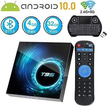 Caja de TV Android 10.0, Android TV Box 4 GB RAM 32 GB ROM CPU Quad-