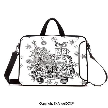 17c398875445 Amazon.com: AngelDOU Neoprene Printed Fashion Laptop Bag Abstract ...