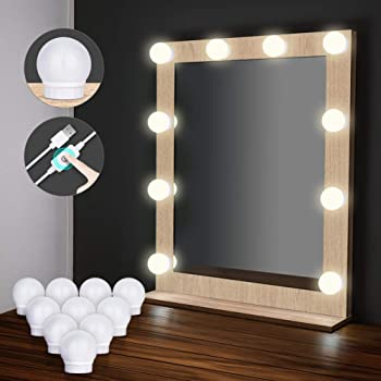 bathroom vanity mirror lights. Hollywood Style LED Vanity Mirror Lights Kit[Upgraded], Elindio Makeup Light  With 10 Dimmable Bulbs \u0026 USB For Table Set In Dressing Bathroom Vanity Mirror Lights