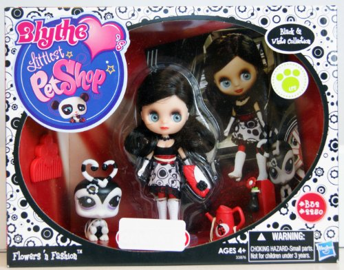 (Littlest Pet Shop Blythe Black White Collection Exclusive Flowers 'n)