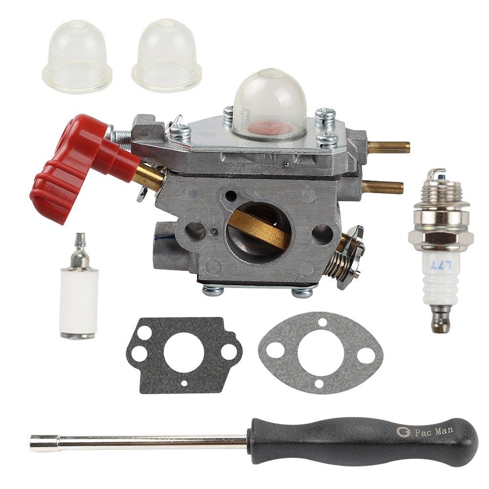 Amazon.com : Buckbock 753-06288 Carburetor with Adjusting Tool for Troy Bilt  25CC String Trimmer Leaf Blower TB35EC TB2044XP TB2040XP TB2MB TB430 Murray  ...