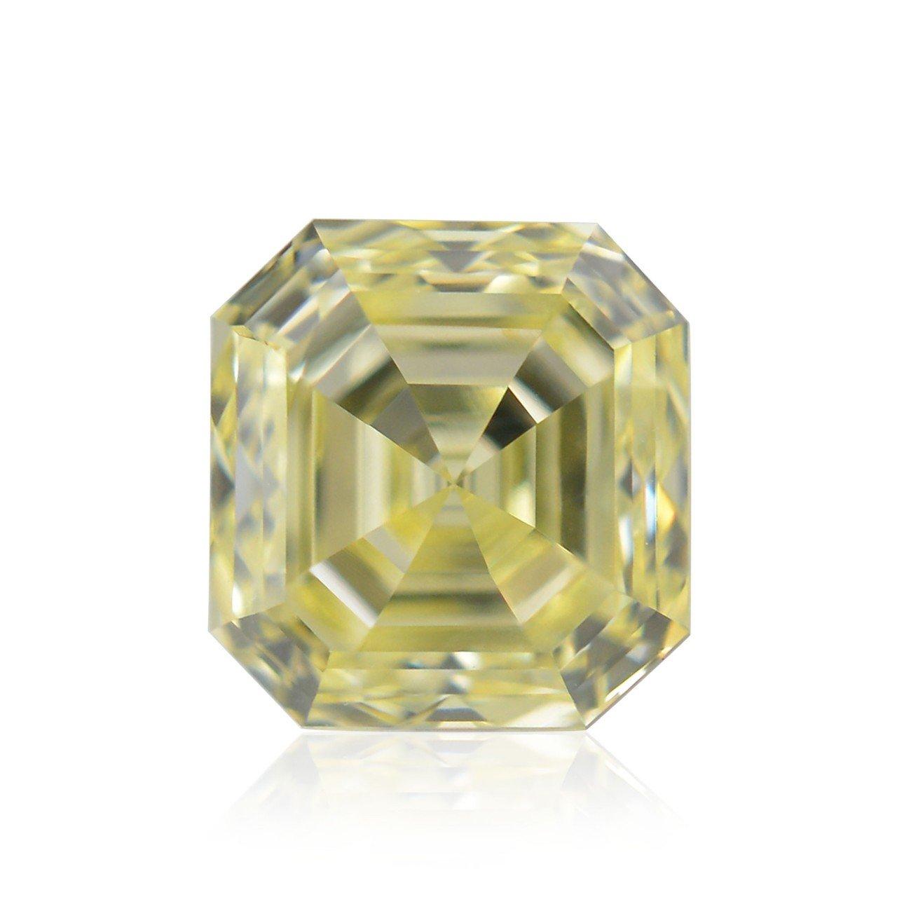 0.62Cts Fancy Yellow Loose Diamond Natural Color Emerald Cut IGI Certificate