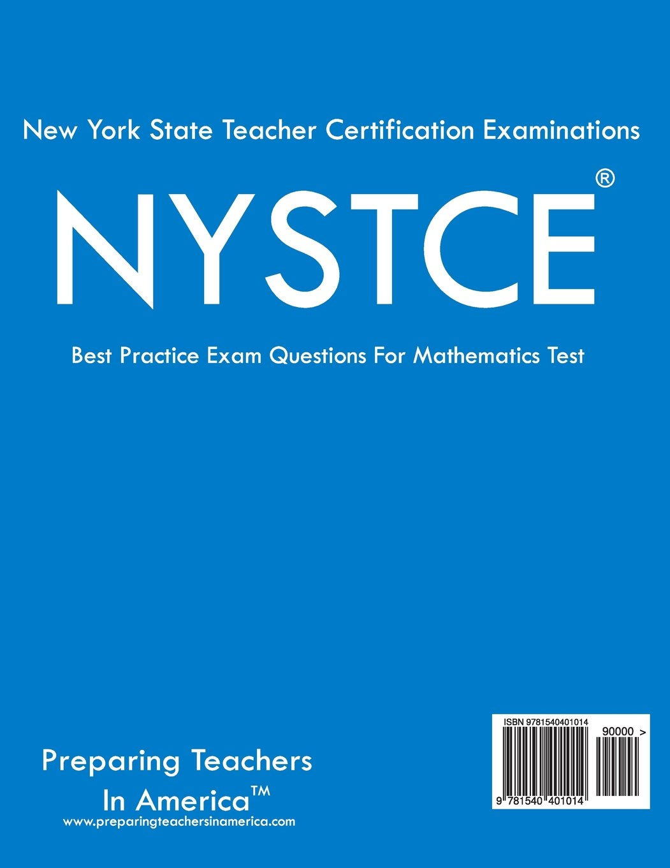 Nystce 004 Mathematics Cst Nystce Mathematics Preparing Teacher In