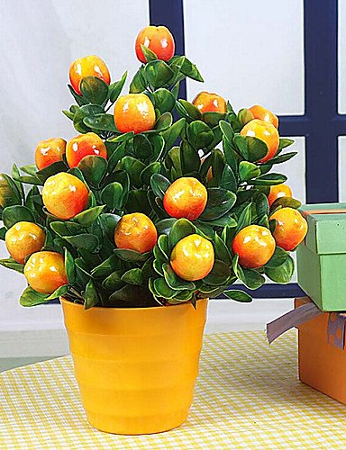 RZAOHuaj,Artificial flowers, decorative bouquet, Apple Bonsai Decorative Fruit
