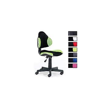 IDIMEX Kinderdrehstuhl Schreibtischstuhl Drehstuhl Alondra, schwarz ...