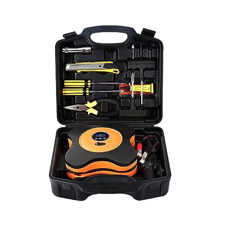Compresor De Aire, Inflador De Neumáticos, Kit De Primeros Auxilios Portátil, Pantalla Digital