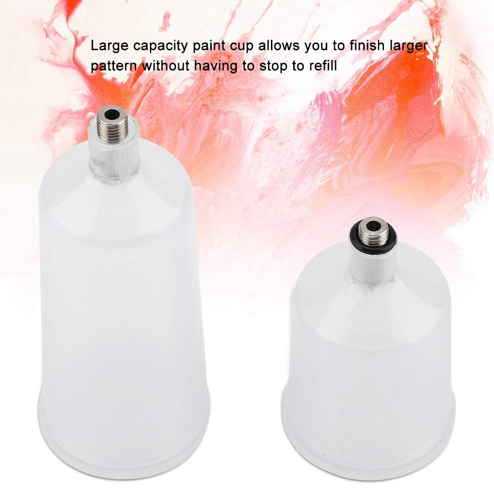 TOPINCN Pistola de Pintura en Aerosol de pl/ástico Airbrush Cup Pot Accesorios para aer/ógrafo Regadera de Pintura en Aerosol Conector roscado Parte 2 Unids//Set