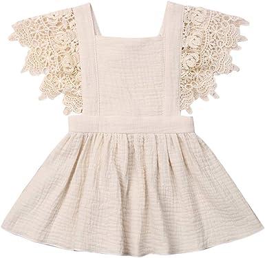 Hand Crochet Linen Girls Dress