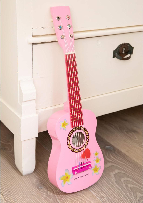 New Classic Toys Toys-10348 Guitarra para ni/ños Color Madera NCT-0348 Importado