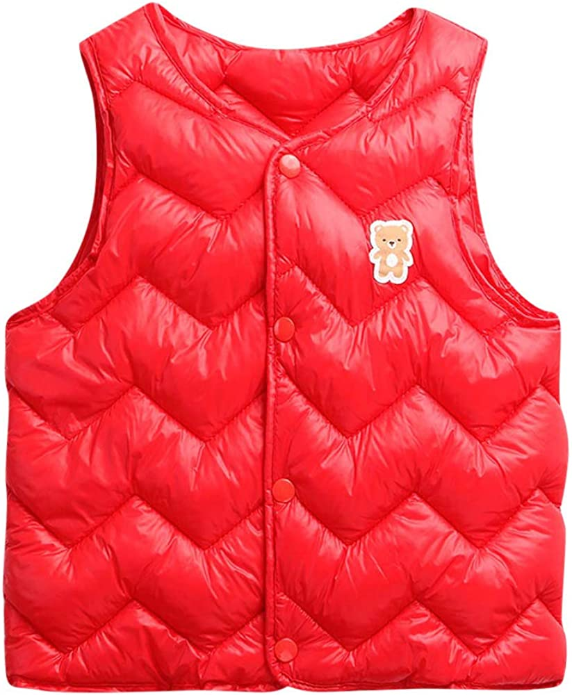 Winter Kids Vest,Fineser Lovely Toddler Kids Baby Girls Boys Sleeveless Solid Warm Vest Waistcoat Coat Clothes 6 Color