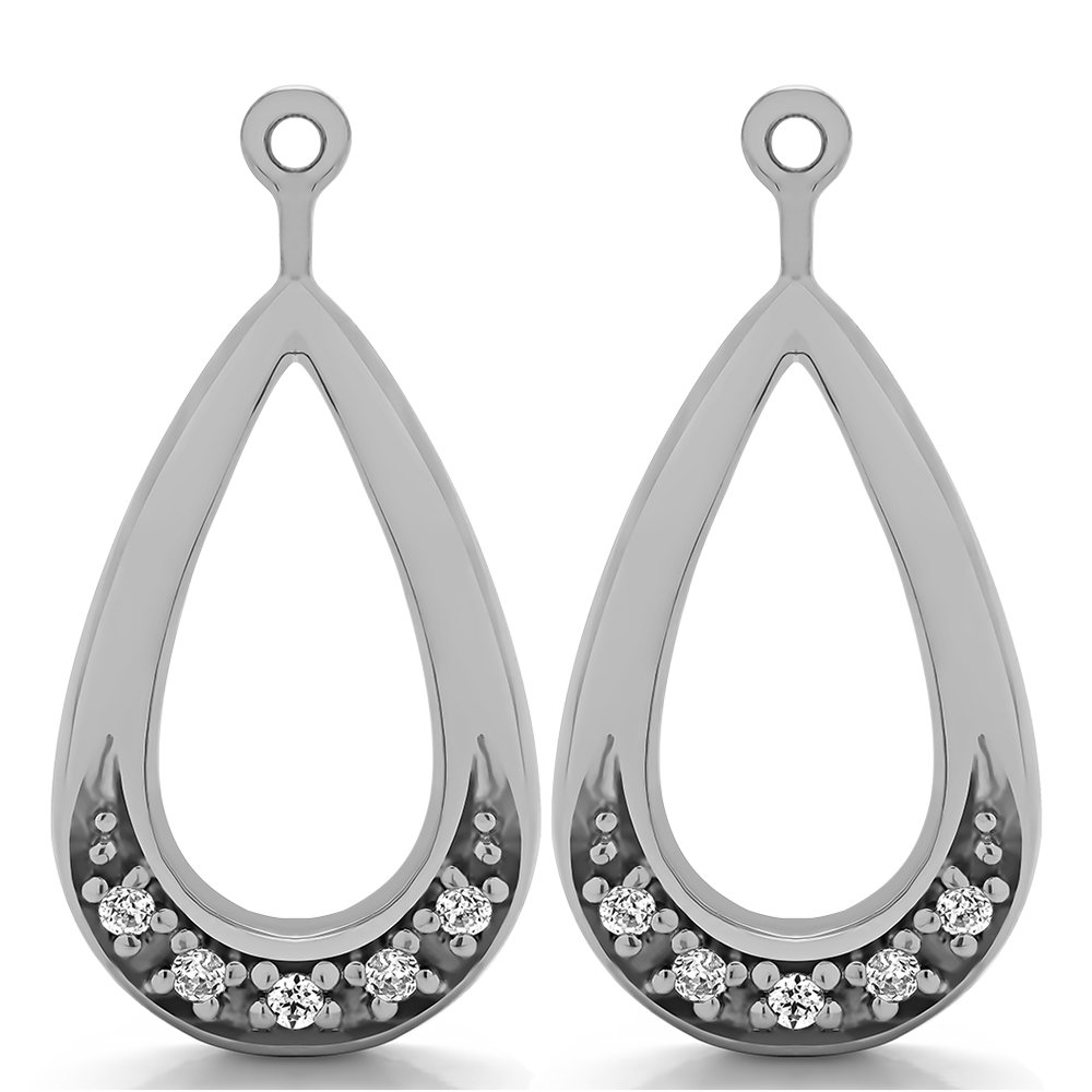 1/10 ct. Diamonds (G-H,I2-I3) Chandelier Earring Jacket in Sterling Silver (0.1 ct. twt.)