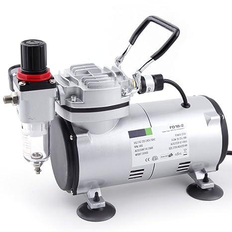 Compresor de aerógrafo Original Fengda FD-18-2 / regulador de presión / 4