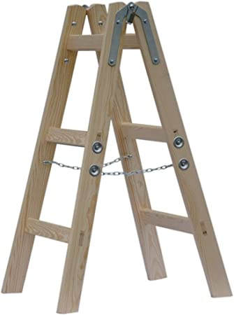 Systafex® Escalera escalera doble pintor Electricistas Escalera escalera escalera escalera de madera (3 niveles) 95 cm: Amazon.es: Bricolaje y herramientas