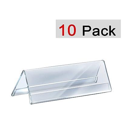 Saisan Acrylic Table Desk Name Plate 10 Pcs Amazon In Office