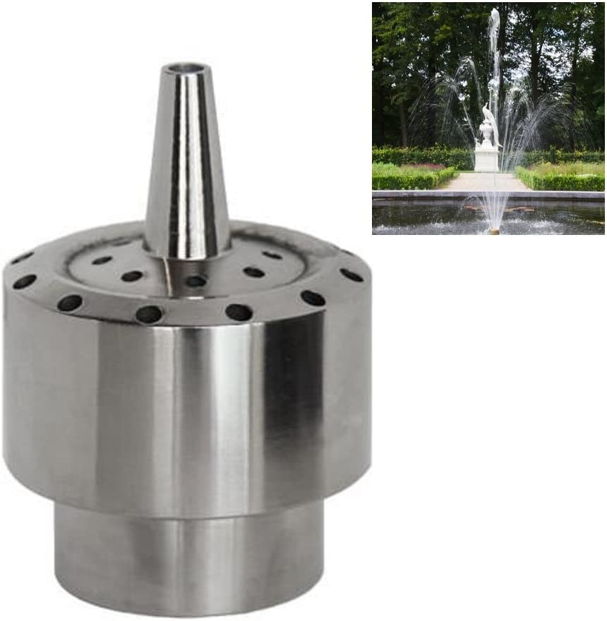 "NAVADEAL DN25 1"" Stainless Steel Blossom Water Fountain Nozzle Pond Spray Sprinkler Head"
