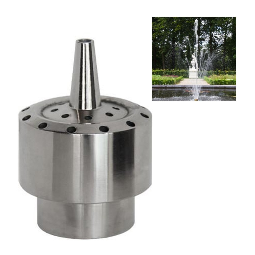 NAVA DN25 1'' Stainless Steel Flower Column Water Fountain Nozzle Pond Spray Sprinkler Head