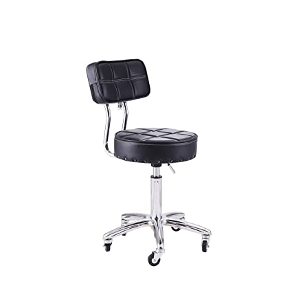 Rfiver Small Swivel Massage Chair Spa Stool With Back Height Adjustable  Rolling Work Stool Drafting Stool