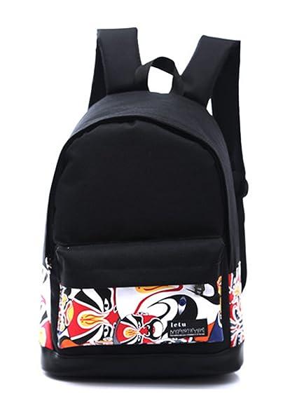 40cb5b329e2e3 Longzibog Einfache und Modedesign. Nie aus der Mode. Mode Maedchen Rucksack  Schulranzen Mehrfarbig 1