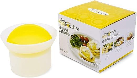 Fácil Egg Cooker - Escalfador de huevos para microondas ...