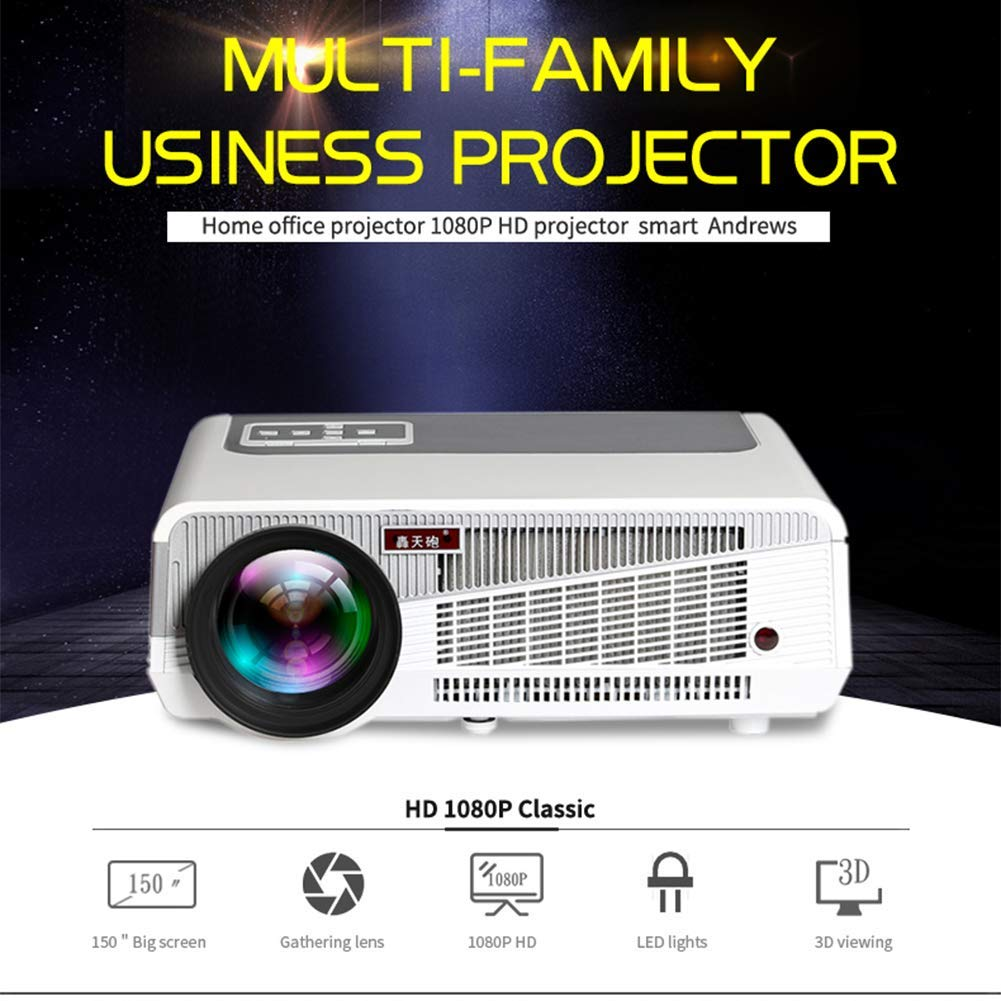 WZHESS Business Projector, Full HD Office Video Projector Admite ...