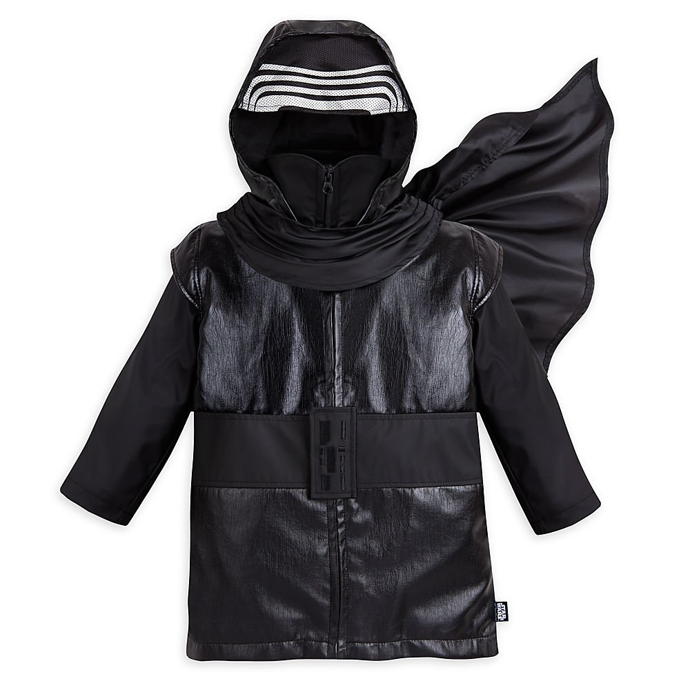 Star Wars Kylo Ren Rain Jacket for Boys - Star Wars: The Force Awakens Size 7/8 Black