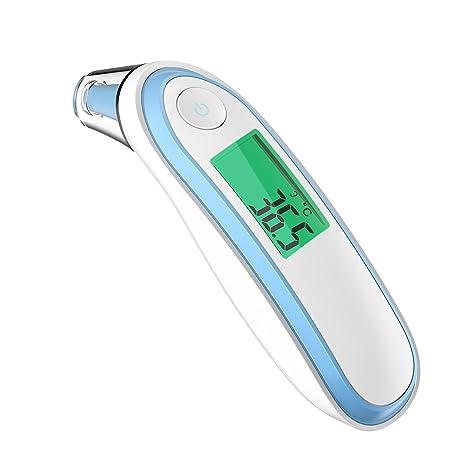 Termómetro Digital Frente y Oído, COULAX Termómetro Infrarrojo Médico apto Pare Bebés y Adultos