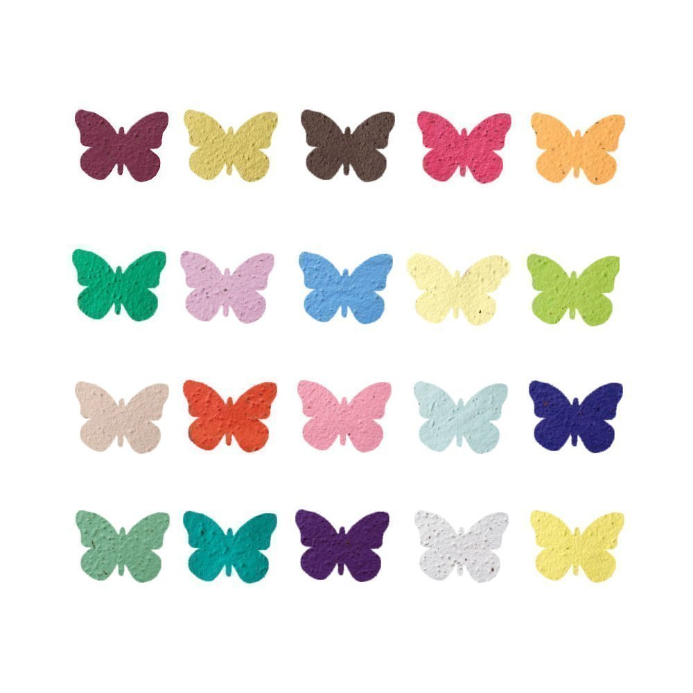 Amazon.com: Plantable Seed Paper Butterfly Party & Wedding Favors ...