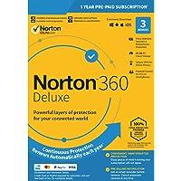 Norton 360 Deluxe - 1-Year   3-Device   UK   EU   US   Canada