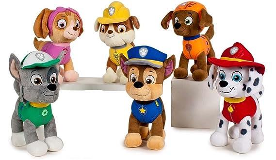 Patrulla canina (PAW PATROL) - Peluche personaje Chase, Pastor Aleman Policia (20cm de pie) Calidad super soft - Color Azul -: Amazon.es: Juguetes y juegos