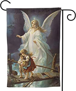 """YISHOW Guardian Angel Garden Flag Double Sided Vertical Guardian Angel House Flags Yard Signs Outdoor Decor 12.5""""X18"""""""